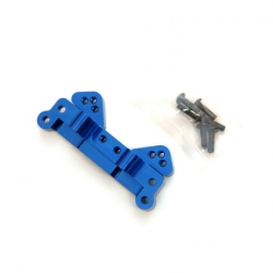 STRC CNC Machined Aluminum Rear Camber Link Mount (Blue)